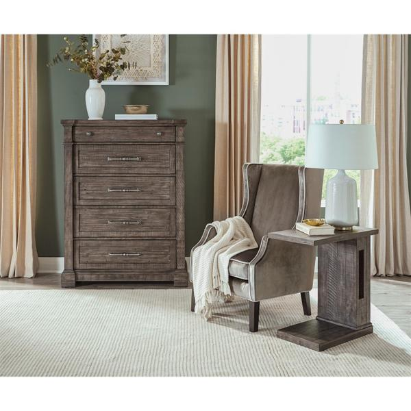 See Details - Bradford - Five Drawer Chest - Rustic Coffee Finish
