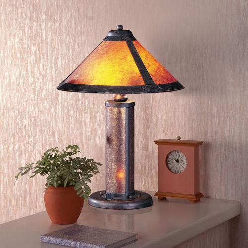 40W Mica Accent Lamp W/Nite Lite