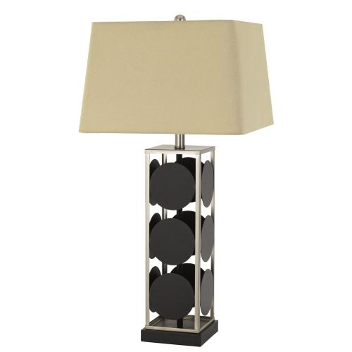 Hanson Metal Table Lamp With Square Fabric Shade