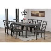 DLU-EL9282-C100-9PC  9 Piece Dining Set  Gray