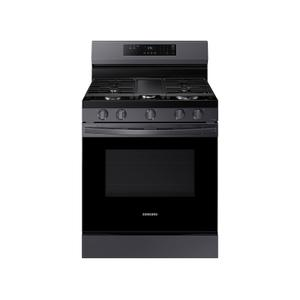 6.0 Cu. Ft. Smart Freestanding Gas Range With 18k Btu Dual Power Burner & Self Clean In Black Stainless Steel