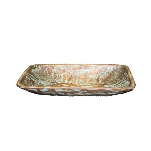 Rectangular Cloudburst Wood Bowl