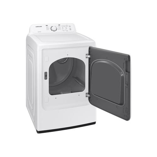 7.2 cu. ft. Gas Dryer with Sensor Dry and 8 Drying Cycles in White