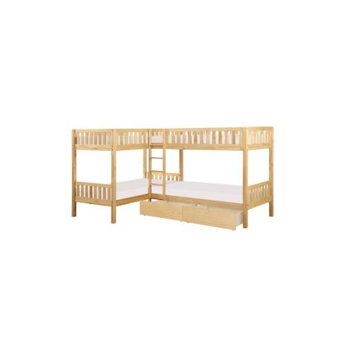 Corner Bunk Bed with Twin Trundle