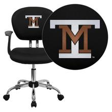 Montana Tech of the University of Montana Orediggers Embroidered Black Mesh Task Chair with Arms and Chrome Base