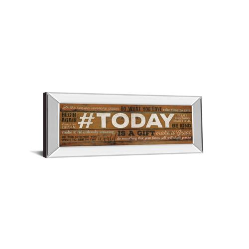 """""""Today Is A Gift"""" By Marla Rae Motivational Mirror Framed Print Wall Art"""