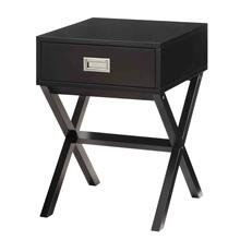 7079 BLACK X-Base End Table