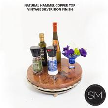 Hammer Copper Lazy Susan