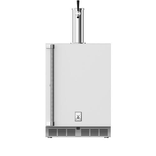 """Hestan - 24"""" Hestan Outdoor Single Faucet Beer Dispenser - GFDS Series - Froth"""