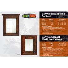 See Details - Barnwood Medicine Cabinet