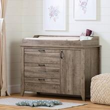 Changing Table with Drawers - Weathered Oak