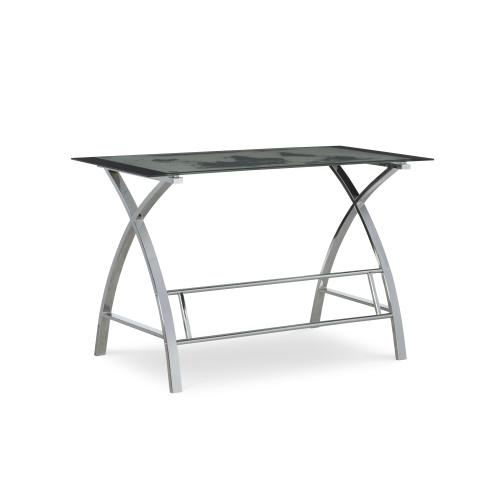 Curved X-sided Computer Desk, Chrome