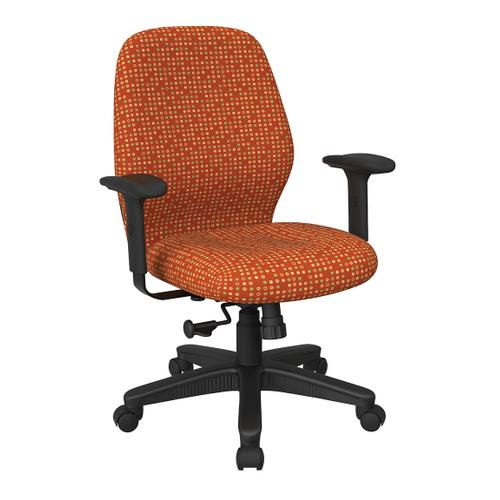 Office Star - Mid Back 2-to-1 Synchro Tilt Chair With 2 -way Adjustable Soft Padded Arms