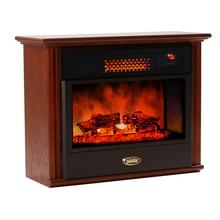 SUNHEAT USA Cabinetry Infrared Fireplace Heater - Mahogany
