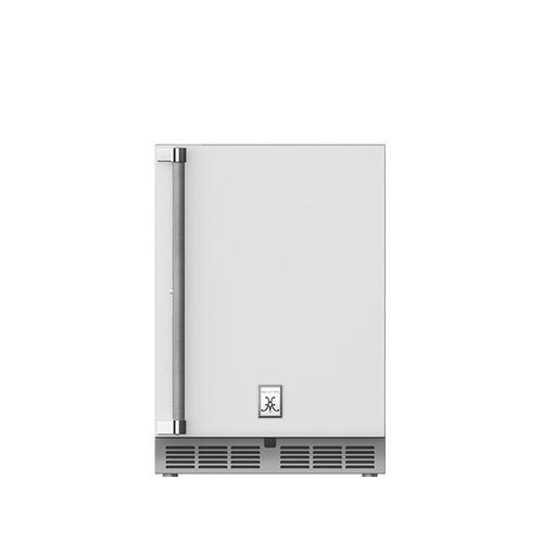 """Hestan - 24"""" Hestan Outdoor Undercounter Refrigerator (Solid Door) - GRSR Series - Froth"""