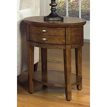 ASH Solids and Veneers Round End Table   (2016-06,52961)