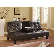 7502 ESPRESSO Faux Leather Futon Sofa Bed