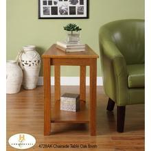 Chairside Table Oak