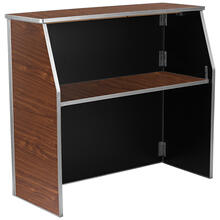 4' Walnut Laminate Foldable Bar