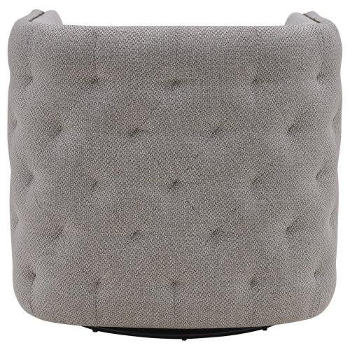 Leslie Fabric Swivel Tufted Accent Arm Chair, Cardiff Gray