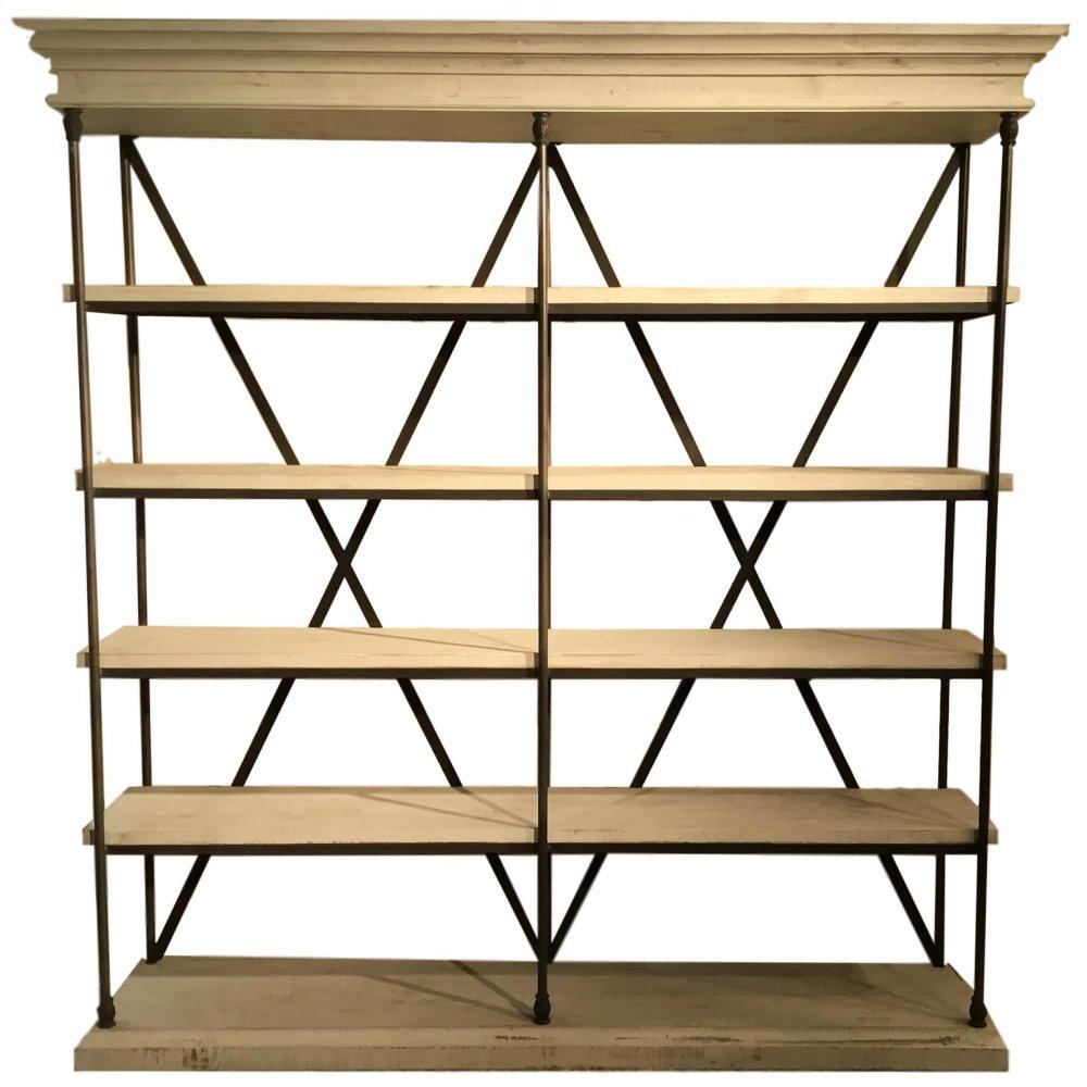 """See Details - Oliver 65"""" Iron Bookcase (MOQ 3)"""