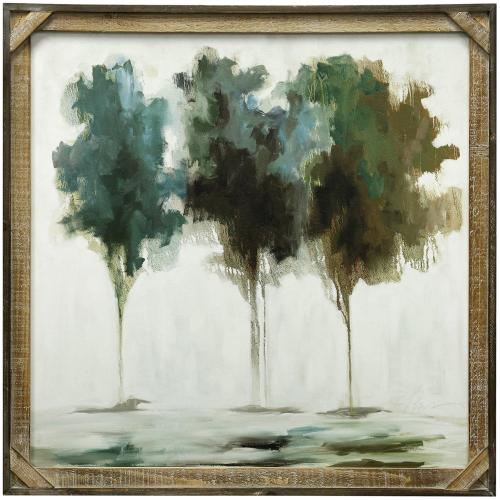 Style Craft - SPRING TREES  30in X 30in  Made in the USA  Textured Framed Print