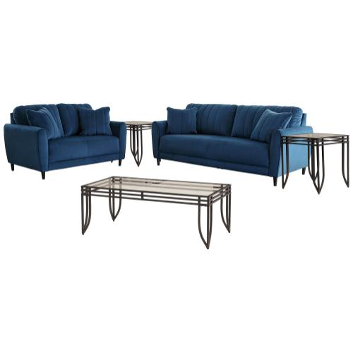 Ashley - Sofa and Loveseat With Coffee Table and 2 End Tables