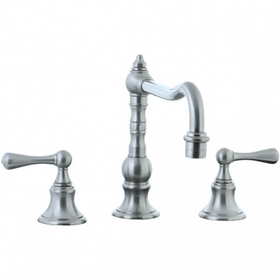 Highlands - 3-Hole Widespread Pillar Kitchen Faucet Without Side Spray - Unlacquered Brass