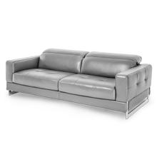 Novelo Leather Sofa in Dark Grey St.Steel