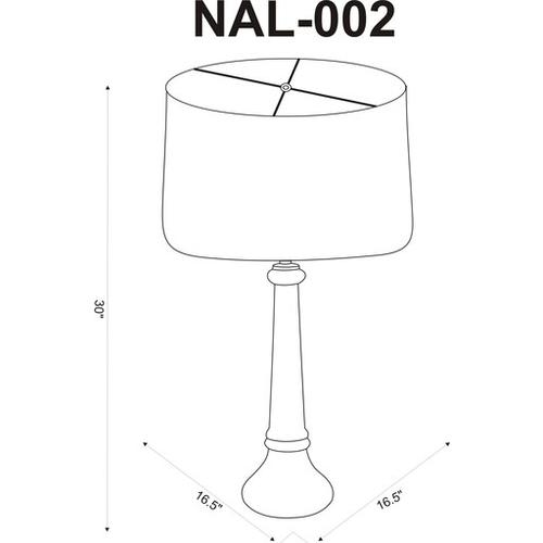 """Niall NAL-002 30""""H x 17""""W x 17""""D"""