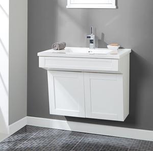 "Shaker Americana 30"" Wall Mount Vanity - Polar White Product Image"