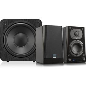Prime Wireless 2.1 Powered Speaker System - Premium Black Ash