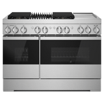 Jenn-AirJenn-Air NOIR 48&quot Dual-Fuel Professional-Style Range with Chrome-Infused Griddle and Grill
