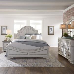 King California Panel Bed, Dresser & Mirror, Night Stand