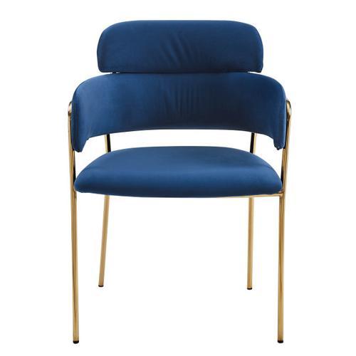 Metal Frame Velvet Accent Chair