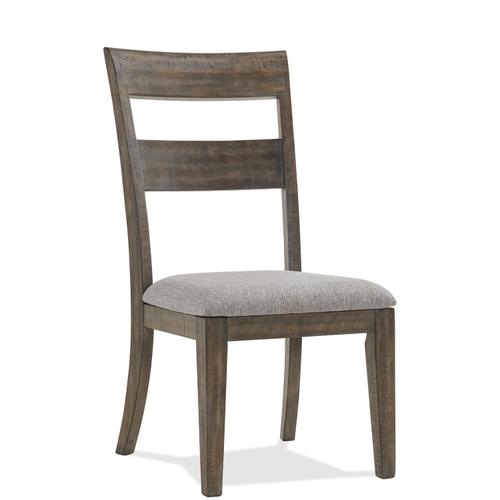 Riverside - Bradford - Upholstered Seat Side Chair - Rustic Coffee Finish