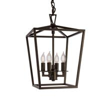 Cage Small Chandelier - Bronze