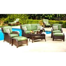 Hanover Strathmere 6-Piece Lounge Set in Cilantro Green, STRATHMERE6PC