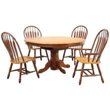 DLU-TBX4866-4130A-NLO5PC  5 Piece Pedestal Butterfly Leaf Dining Set  Two Comfort Arm Chairs