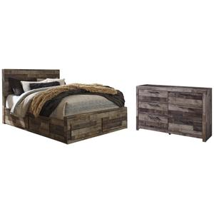 Ashley - Queen Panel Bed With 6 Storage Drawers With Dresser