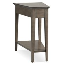 Leick Solid Wood Recliner Wedge Table in Smoke Gray #10074-GR