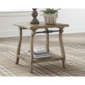 Dazzelton Rectangular End Table Light Brown
