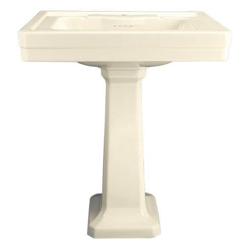 Dxv - Fitzgerald 28 Inch Pedestal Bathroom Sink- Single Faucet Hole - Biscuit