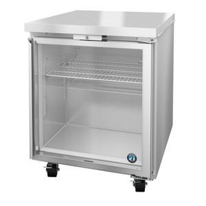 HoshizakiUF27A-GLP01, Freezer, Single Section Undercounter, Full Glass Door