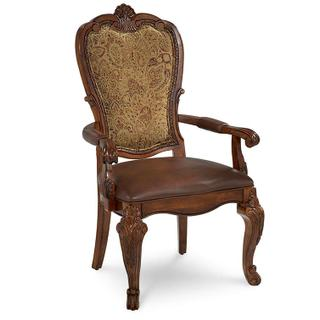 See Details - Old World Upholstered Back Arm Chair (Sold As Set of 2)