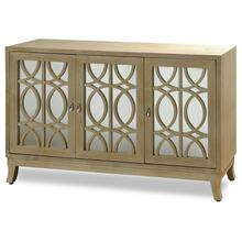 MADELINE SIDEBOARD  54in w. X 34in ht. X 17in d.  Three Door Buffet Cabinet made of Straight Grain