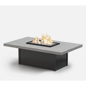 """36"""" x 60"""" Rectangular Coffee Fire Pit Ht: 19"""" Aurora Aluminum Base (Indicate Top/Frame Color)"""