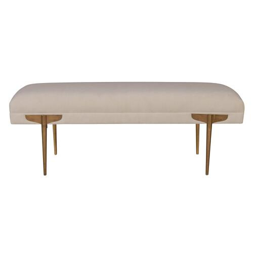 Tov Furniture - Brno White Waived Velvet Bench