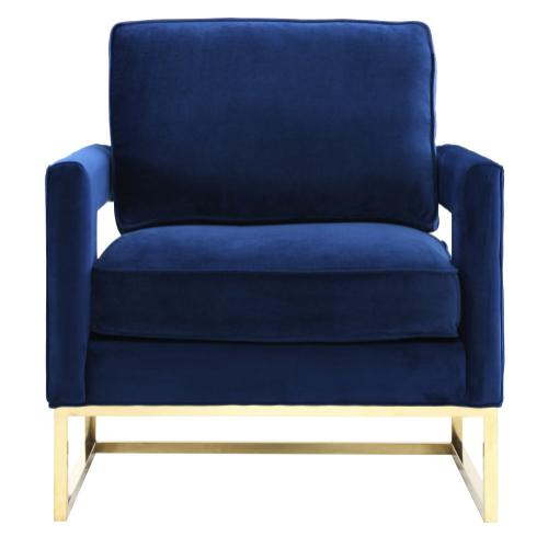 Avery Navy Velvet Chair