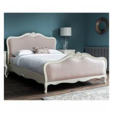 GA Chic 6' Linen Upholstered Bed Vanilla White
